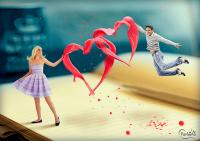 [коллаж] Биение двух сердец (3 видеоурока Photoshop)