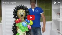 Ёжик из шариков (урок аэродизайна)