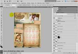 Создание винтажного календаря в Adobe Photoshop