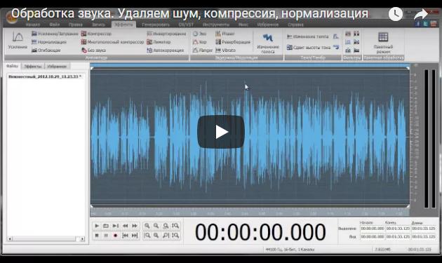 Базовая обработка звука