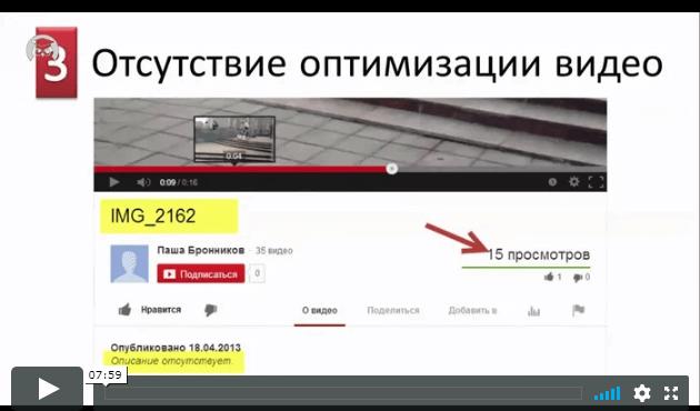 ТОП-7 ошибок новичков на YouTube