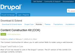 Модуль CCK (Content Construction Kit)