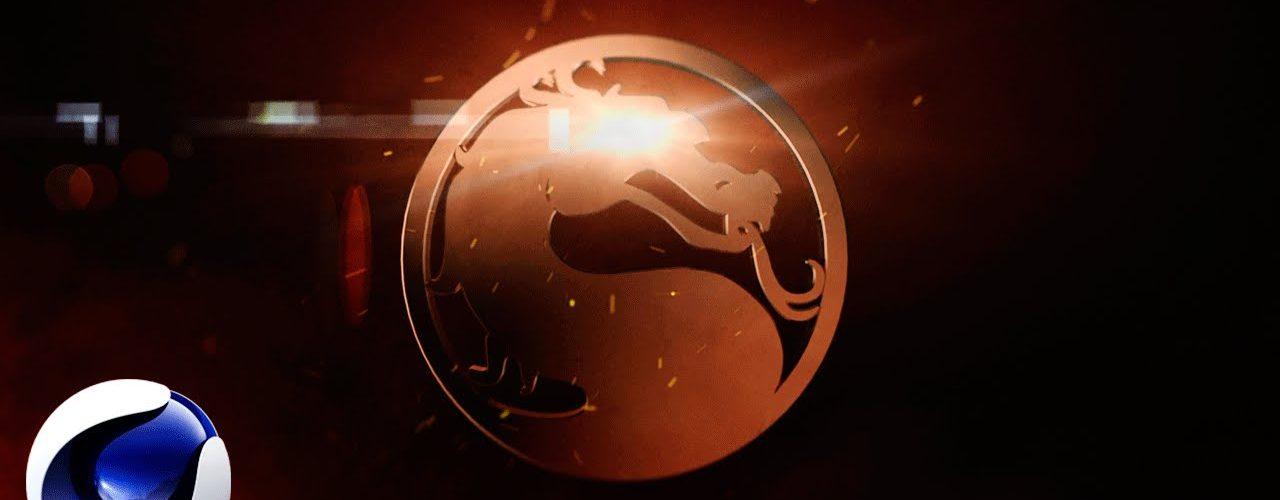 Огненный логотип Mortal Kombat в Cinema 4D