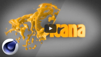 Сочная анимация из жидкости в текст