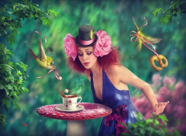 Коллаж 3. Кафе «Зеленый попугай»