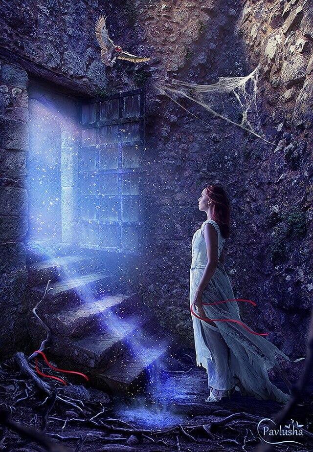 Коллаж - Таинственная дверь
