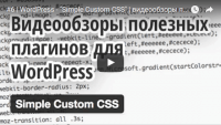 Simple Custom CSS (урок WordPress)