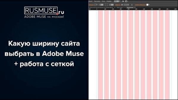 Какую ширину сайта выбрать в Adobe Muse + работа с сеткой