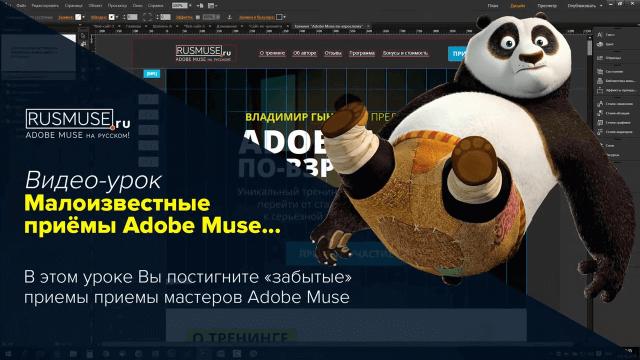 Малоизвестные приемы Adobe Muse