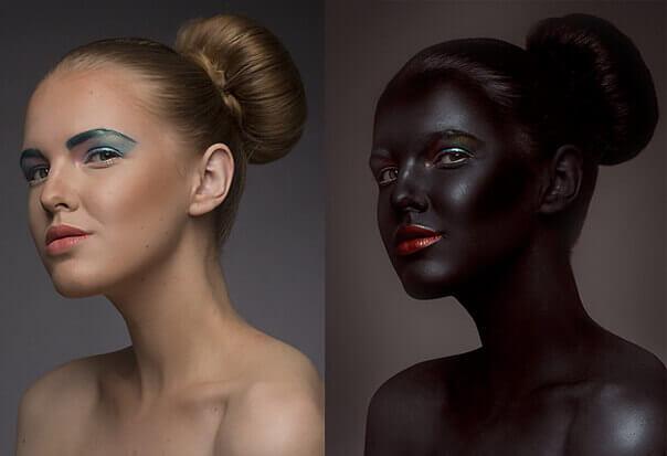 Красим кожу в чёрный цвет в Adobe Photoshop