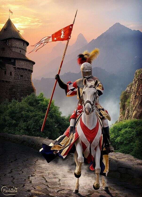 Коллаж - Уехал славный рыцарь