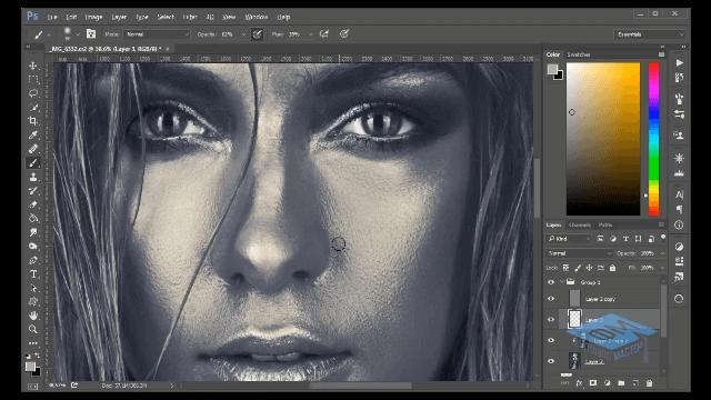 Красим кожу в серебряный цвет в Adobe Photoshop