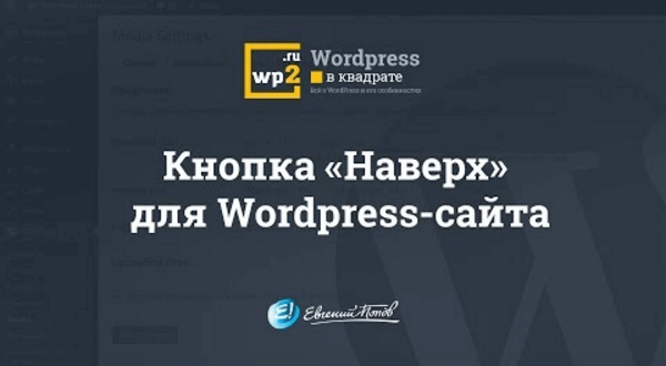 "Кнопка ""Наверх"" для Wordpress-сайта"