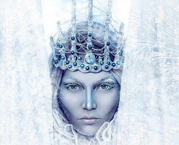 ФотоАрт в Фотошоп для зимнего портрета