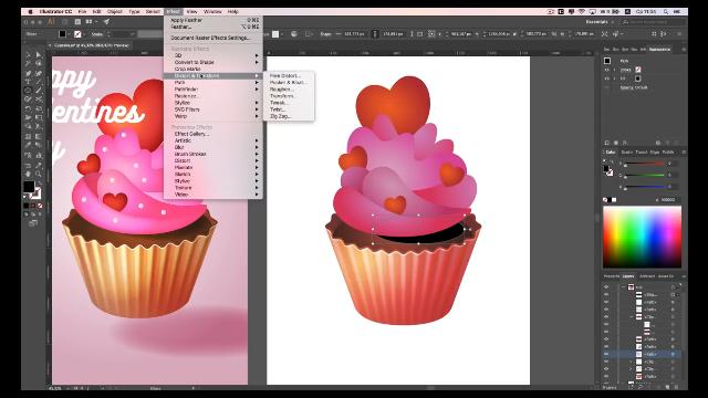 Создаём праздничную иллюстрацию ко Дню святого Валентина в Adobe Illustrator