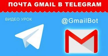 Почта Gmail в Telegram