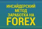 Инсайдерский метод заработка на FOREX
