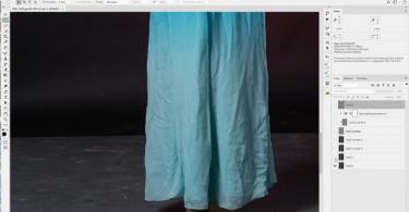 Убираем складки на платье
