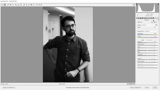 Черно-белая фотография в Camera Raw
