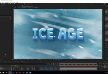 Ледяной текст в After Effects