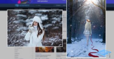 Реалистичный снегопад