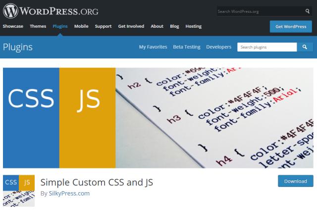 Simple Custom CSS & JS