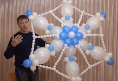 Снежинка из линколунов и ШДМ