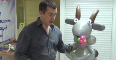 Коза из шаров